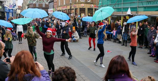 elevate dancers flashmob